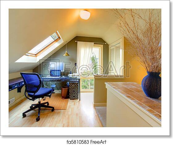 Free Art Print Of Attic Cozy Home Office