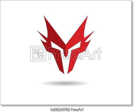 Free Art Print Of Spartan Helmet Vector Icon Spartan Helmet Logo