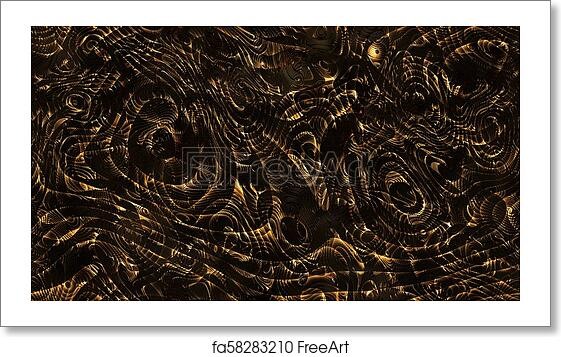 Free Art Print Of Abstract Curves Golden Parametric Curved Lines And Shapes 4k Seamless Background
