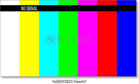 Free Art Print Of Creative Vector Illustration Of No Signal Tv Test