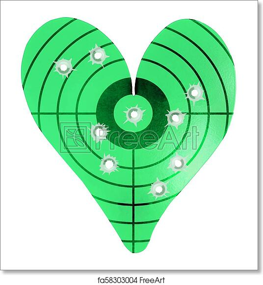 Free art print of bulletholes in a metal heart shaped target free art print of bulletholes in a metal heart shaped target altavistaventures Image collections