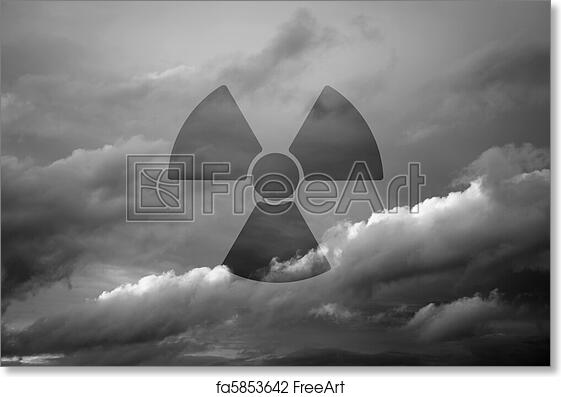 Free Art Print Of Dramatic Sky With Symbol Of Radioactivity