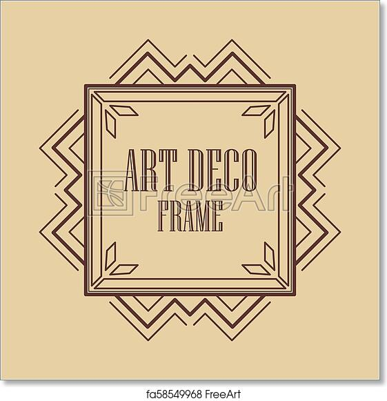 Free Art Print Of Art Deco Frame Vintage Art Deco Border Frame