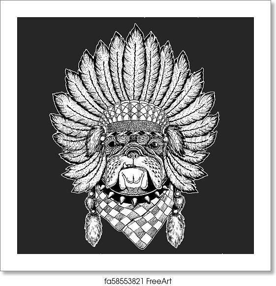 a6e847a80d3ca Bulldog Hand drawn vintage image for t-shirt, tattoo, emblem, badge, logo,  patch