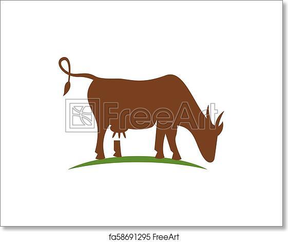 Free art print of Cow logo template