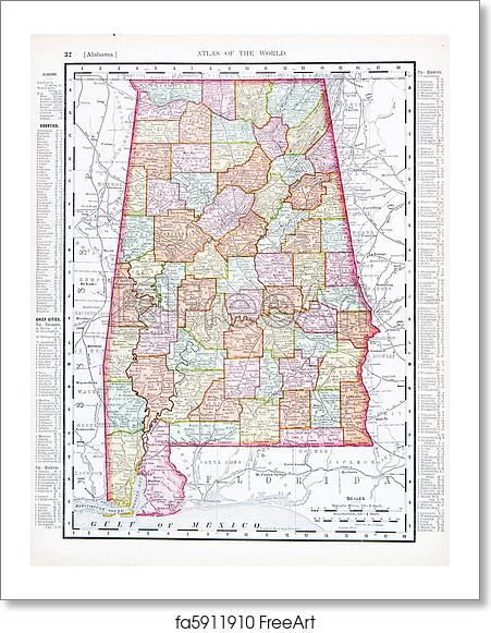 Free art print of Antique Map of Alabama, AL, United States, USA Map Of Alabama Usa on map of nevada usa, map of georgia usa, map of st. vincent and the grenadines, map of america usa, map of san antonio usa, map of northeastern usa, map of northwestern usa, map of midwest states usa, map of southern usa, map of the south usa, map of carolinas usa, map delaware usa, map arkansas usa, map of washington dc usa, map of richmond usa, map of mexico usa, map of southeast usa, map of boston usa, colorado map usa, map of pacific northwest usa,