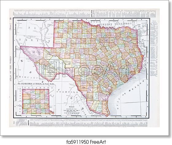 Free Map Of Texas.Free Art Print Of Antique Map Of Texas Tx United States Usa