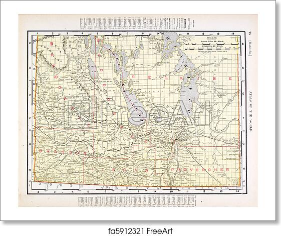 Map Of Canada 1900.Free Art Print Of Antique Vintage Color Map Of Manitoba Canada