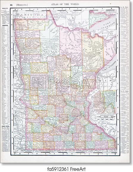 Mn On Us Map - Minnesota map usa