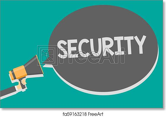 Free art print of Word writing text Security  Business concept for The  state of feeling safe stable and free from fear or danger Megaphone  loudspeaker