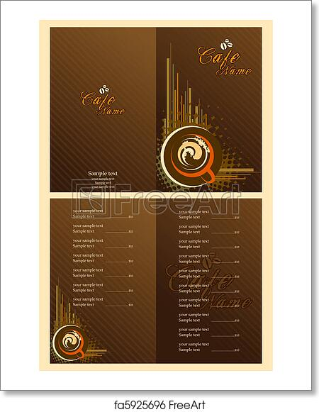free art print of cafe menu card template illustration of set of