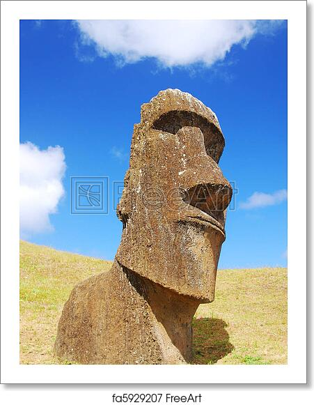 Free art print of Easter Island Moai
