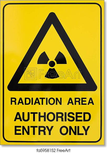 photo about Free Printable Warning Signs named Absolutely free artwork print of Nuclear radiation caution signal