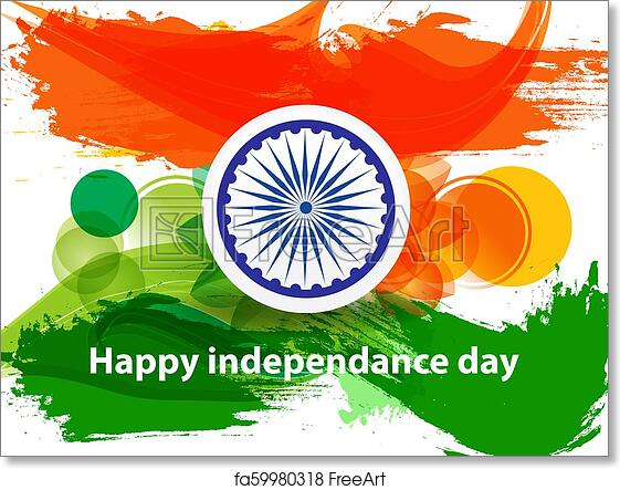 Free Art Print Of Happy Indian Independence Day Background With