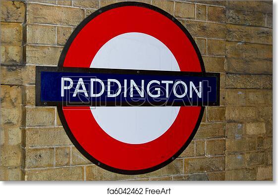 image regarding Printable Application for Subway identify Totally free artwork print of Paddington Station subway signal