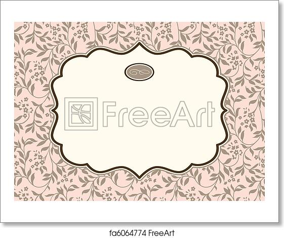 Free art print of Vector Pastel Ivy Background and Ornate Frame ...