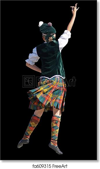 2877241a9 Free art print of Highland Dancer. A girl competing in a highland ...