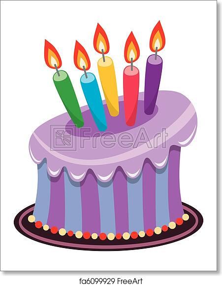 Incredible Free Art Print Of Birthday Cake With Burning Candles Vector Funny Birthday Cards Online Elaedamsfinfo