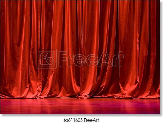 Free Art Print Of Red Velvet Stage Curtains Red Velvet Stage