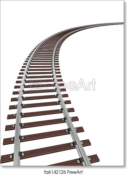 Free art print of Train track