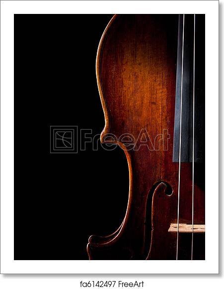 Free art print of Violin music string art instrument