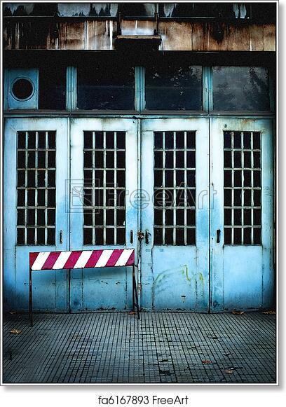Free Art Print Of Garage Old Garage Door Freeart Fa6167893