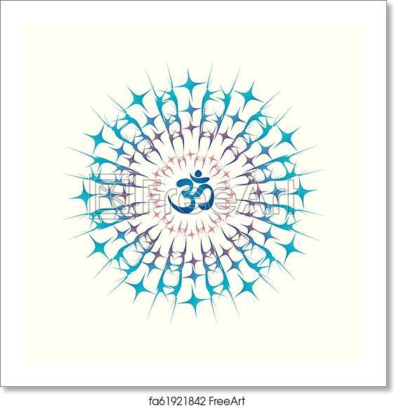 Free art print of Ohm mandala or Sri Chakra energy generator