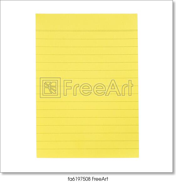 Free art print of Yellow paper for notes. Yellow lined paper for ...