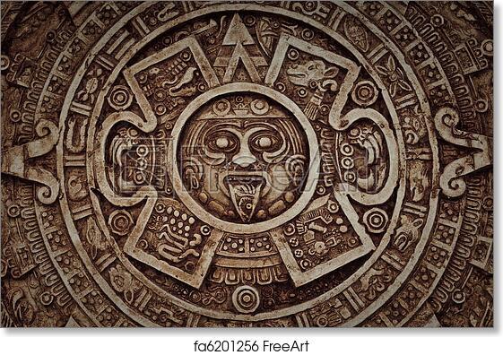 Free Art Print Of Mayan Calendar Freeart Fa6201256