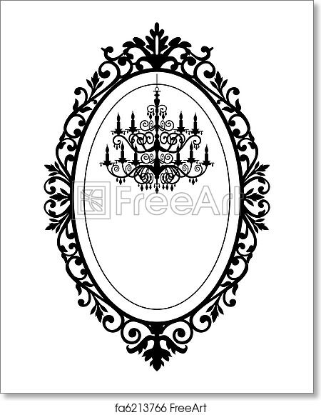Free art print of Vintage frame with chandelier. Vintage, antique ...