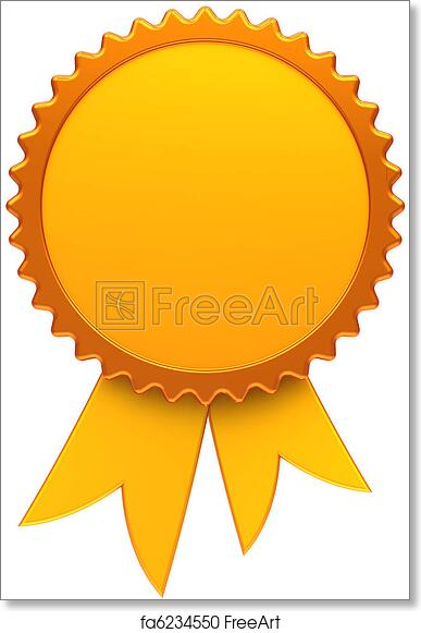 Free Art Print Of Award Ribbon Blank Golden Medal Award