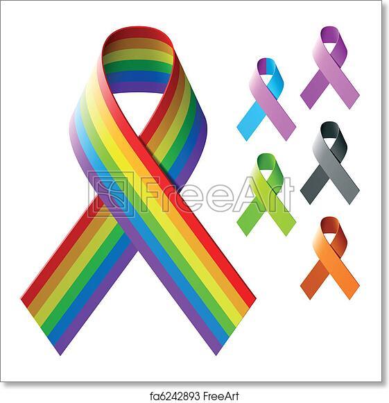 Free art print of Awareness ribbons