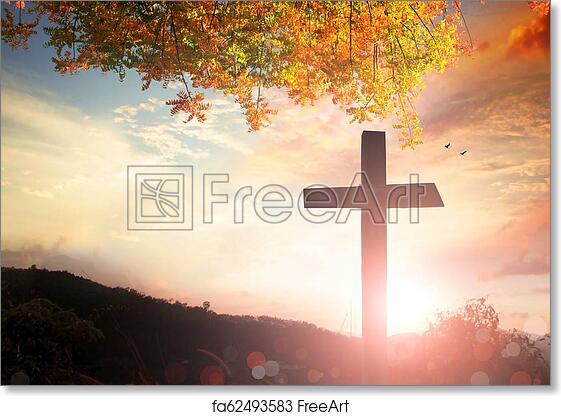 Free art print of Christmas concept: worship and praise God