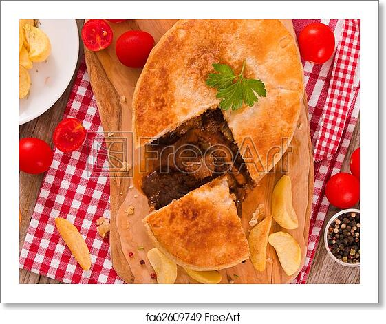 Free art print of Steak pie. | FreeArt | fa62609749