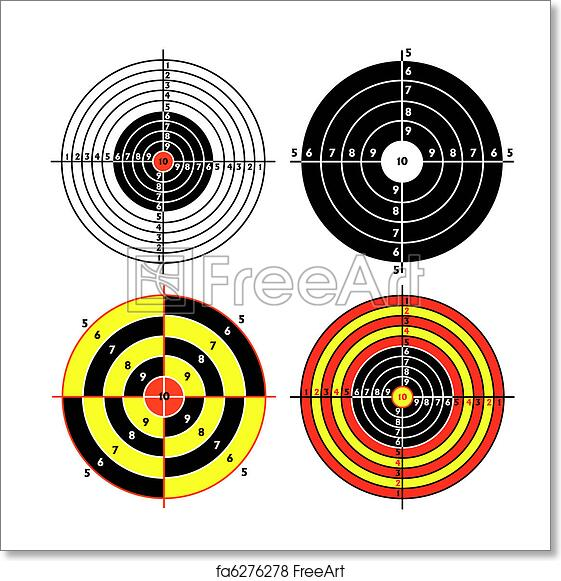 Free art print of Set targets for practical pistol shooting