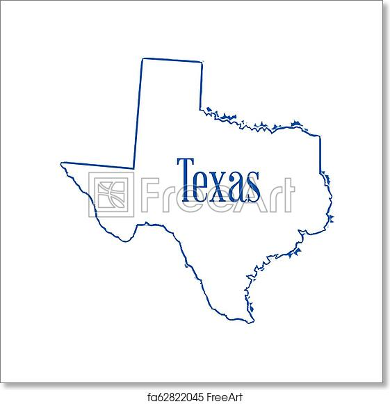 Free art print of Texas Outline Map. Outline map of the