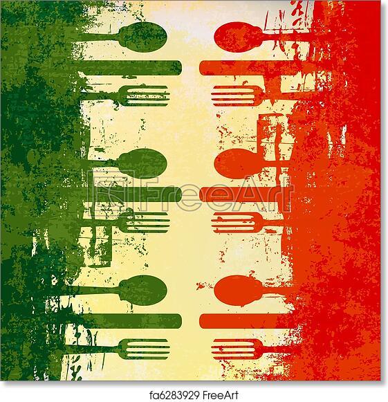 free art print of italian menu template italian menu vector