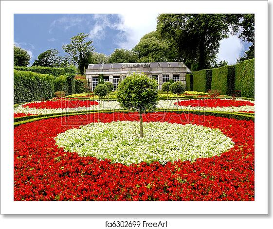 Free Art Print Of Begonia Garden A Formal Garden Of Red And