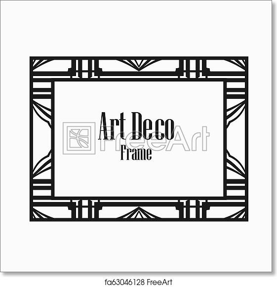 Free art print of Art Deco border frame