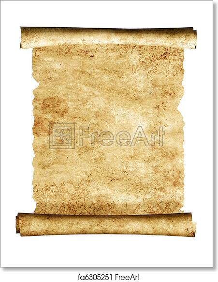 3d Scroll Of Parchment Photo: Free Art Print Of 3d Scroll Of Old Parchment. Scroll Of