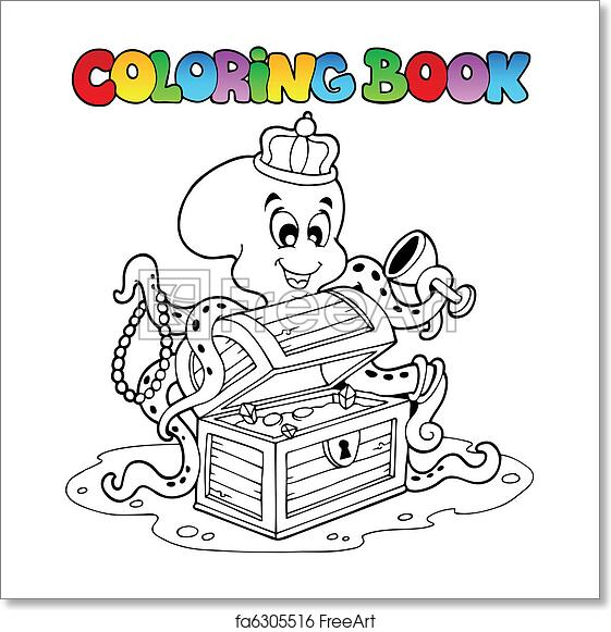 Free art print of Coloring book with octopus. Coloring book with ...