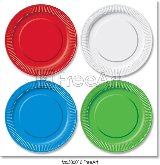 Free art print of Disposable plates  sc 1 st  FreeArt & Free art print of Disposable plates. Red green blue and white ...
