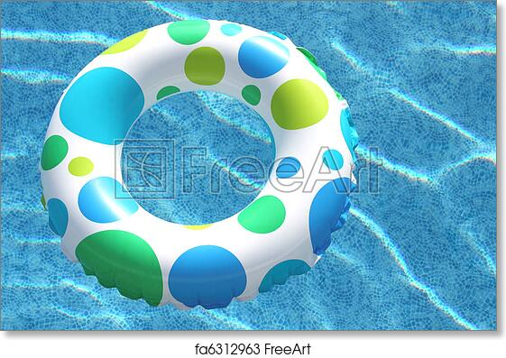Free art print of Inner Tube in Swimming Pool