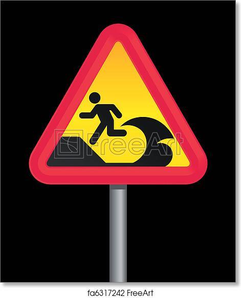 photo regarding Free Printable Warning Signs named Absolutely free artwork print of Tsunami caution indication