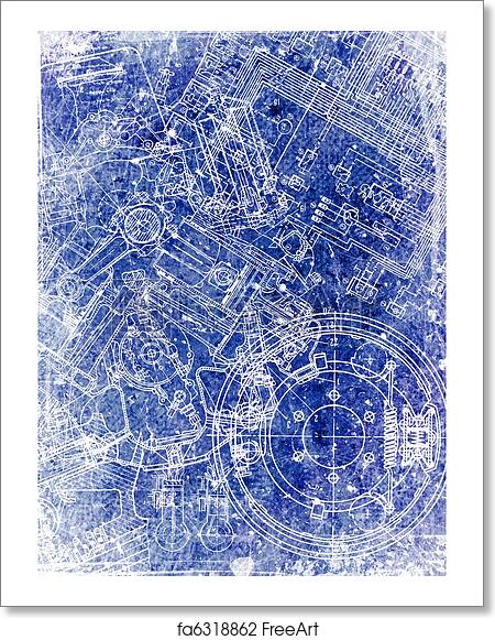 Free art print of parchment sheet with blueprint old grunge free art print of parchment sheet with blueprint malvernweather Gallery