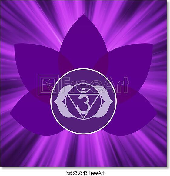 Free Art Print Of Ajna Chakra Symbol Eps 8 Ajna Chakra Symbol Eps