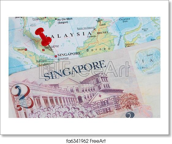 Free art print of Singapore dollars