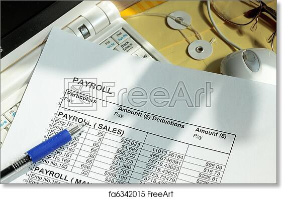 free art print of payroll spreadsheet payroll spreadsheet with