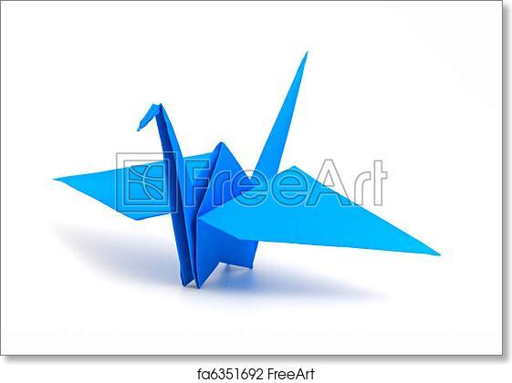 Free Art Print Of Origami Crane Origami Crane Isolated On A White