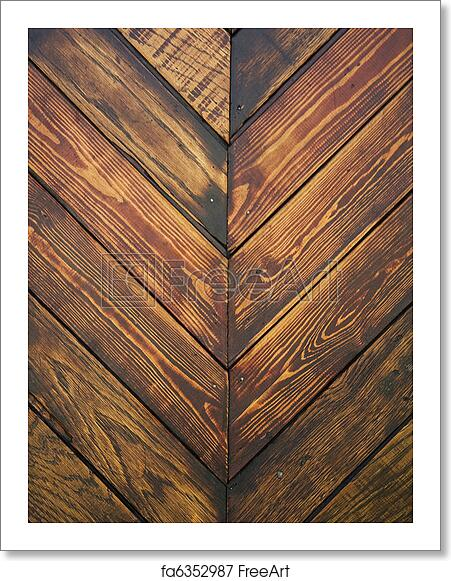 Free Art Print Of Wood Texture Planks Of Old Wood In Herringbone